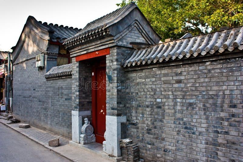 terenu Beijing hutong zdjęcie royalty free