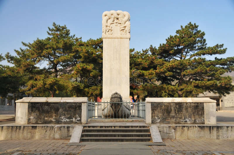 terenu Beijing porcelany dingling ming sceniczni grobowowie zdjęcia stock