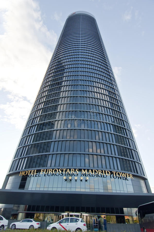 terenu biznesu cuatro Madrid torres obraz royalty free