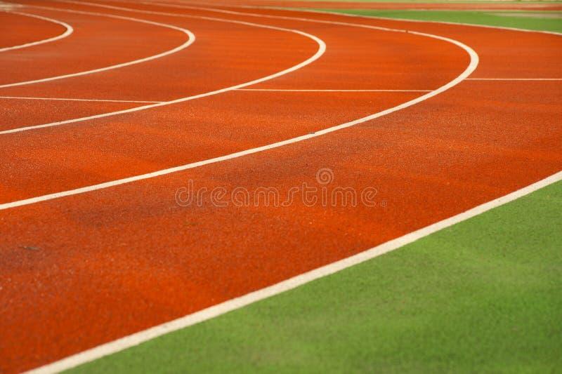 terenu działający sportów ślada fotografia stock