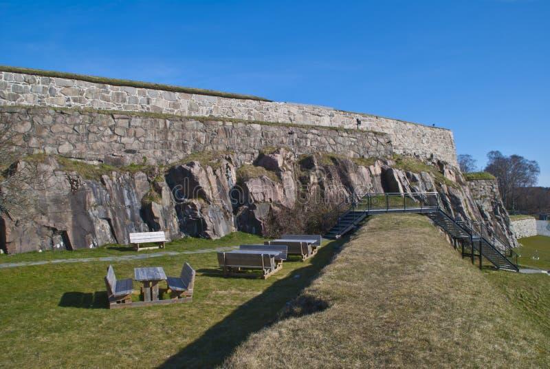 terenu forteca fredriksten halden zdjęcie royalty free