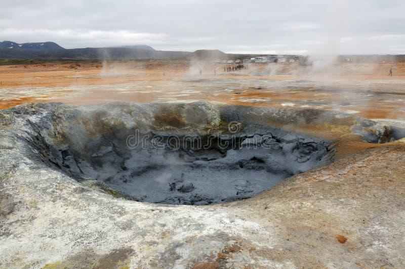 terenu geotermiczny hverir krafla blisko obrazy stock