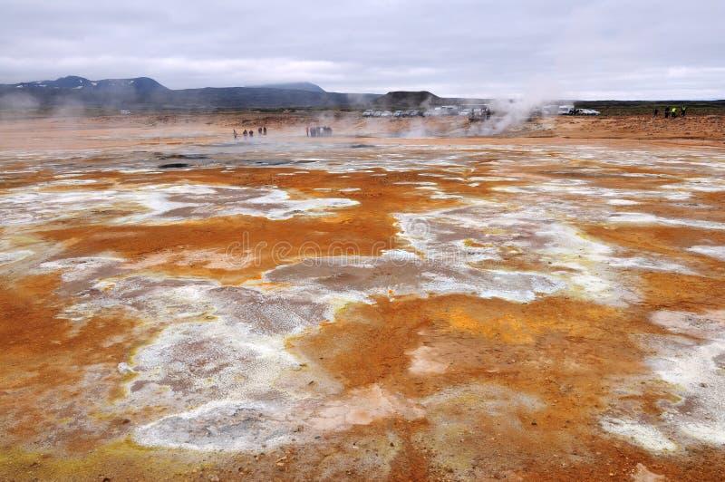 terenu geotermiczny hverir krafla blisko fotografia royalty free