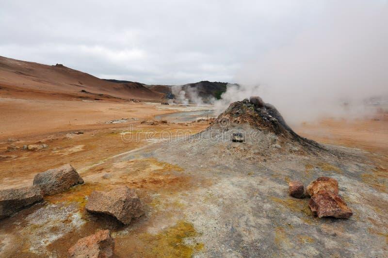 terenu geotermiczny hverir krafla blisko zdjęcia royalty free