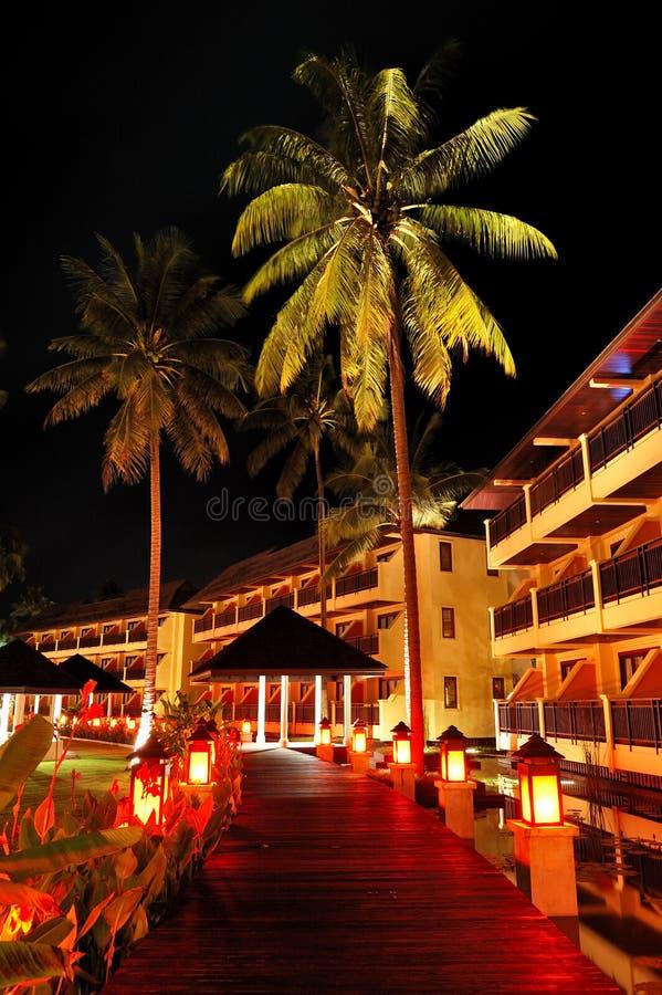 terenu hotel iluminujący luksusowy relaks obrazy royalty free