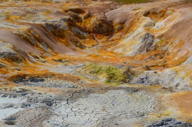 Terenu kolorowy geotermiczny szczegół obrazy royalty free