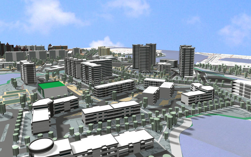 terenu miasta projekt ilustracji