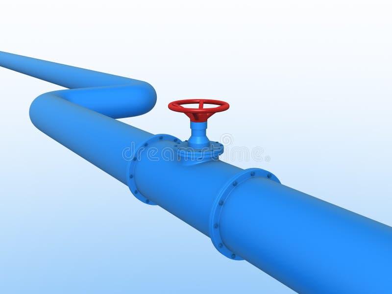 terenu szczegółu gazu przemysłowy rurociąg piszczy stalowego kolor żółty ilustracja wektor