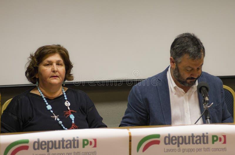 Teresa bellanova Salvatore capone obrazy stock