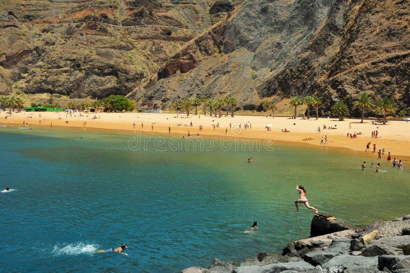 teresitas Испании tenerife Канарских островов пляжа стоковые фото