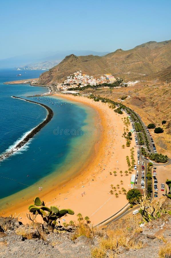 teresitas Испании tenerife Канарских островов пляжа стоковая фотография rf