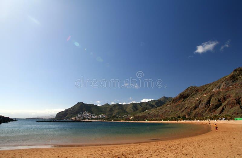 Teresitas beach of Tenerife. Island, Canarias royalty free stock images