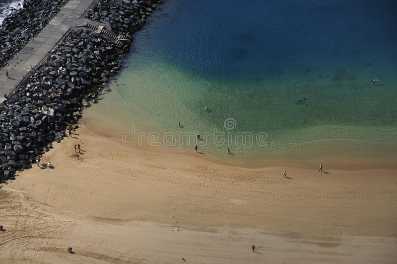 Teresitas beach of Tenerife royalty free stock photos
