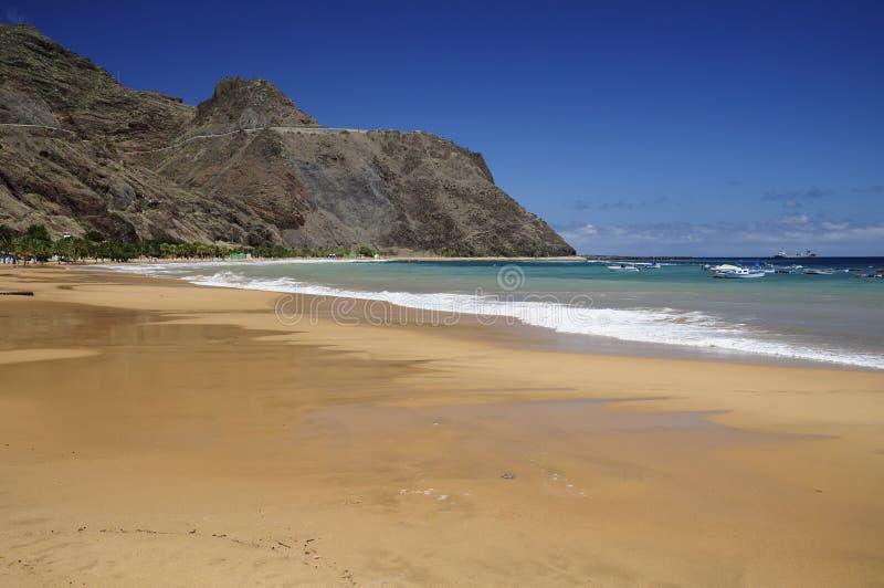 Teresitas beach in Tenerife. Teresitas beach on a summer day, Tenerife (Canary Islands royalty free stock image