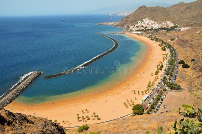Teresitas Beach in Tenerife, Canary Islands, Spain. A view of Teresitas Beach in Tenerife, Canary Islands, Spain royalty free stock photos