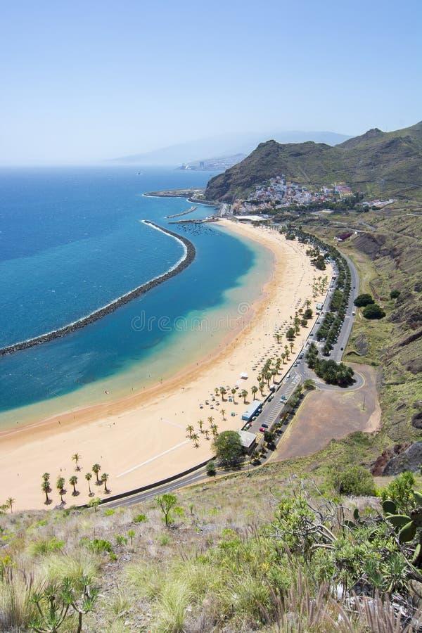 Teresitas strand nära Santa Cruz, Tenerife, kanariefågelöar, Spanien royaltyfri fotografi
