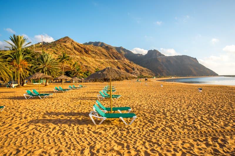 Teresitasstrand dichtbij Santa Cruz de Tenerife royalty-vrije stock foto's