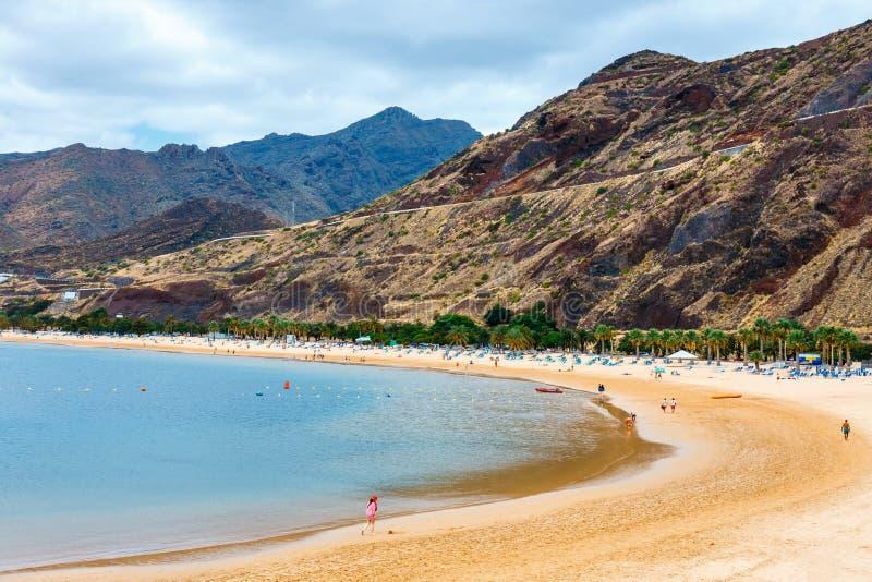 Teresitasstrand dichtbij Santa Cruz, Tenerife, Canarische Eilanden, Spanje royalty-vrije stock foto