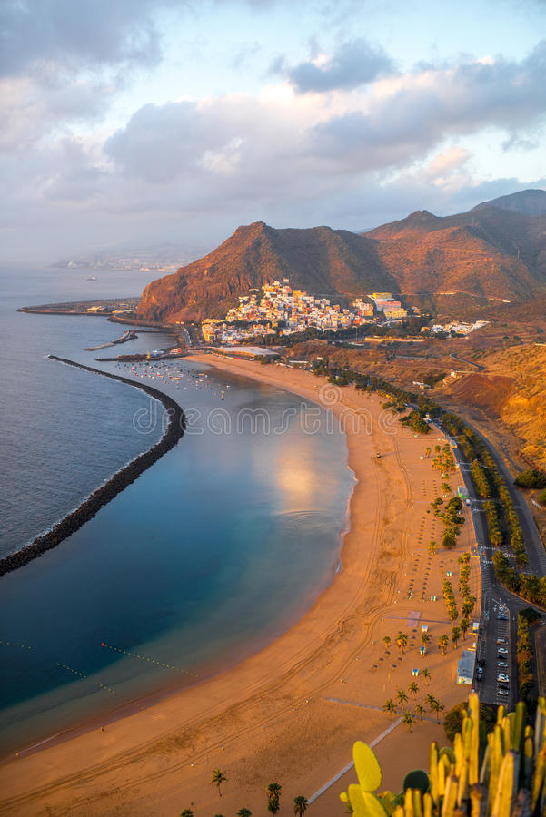 Teresitasstrand in Santa Cruz de Tenerife royalty-vrije stock foto