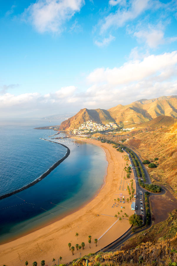 Teresitasstrand in Santa Cruz de Tenerife royalty-vrije stock afbeeldingen