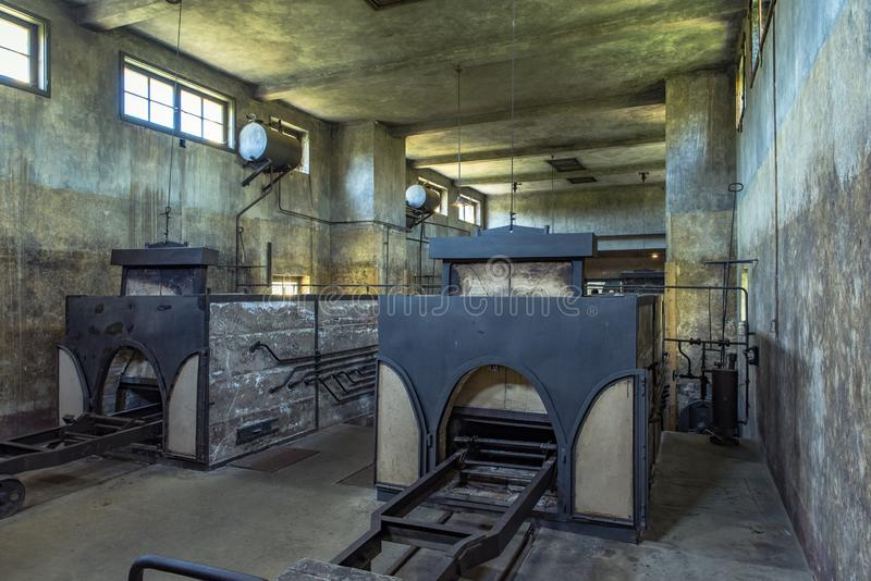 Terezin Concentration Camp. Crematorium, where furnaces and autopsy room stock image