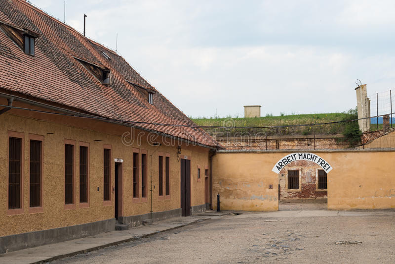 Terezin Erinnerungs, Tschechische Republik stockfoto
