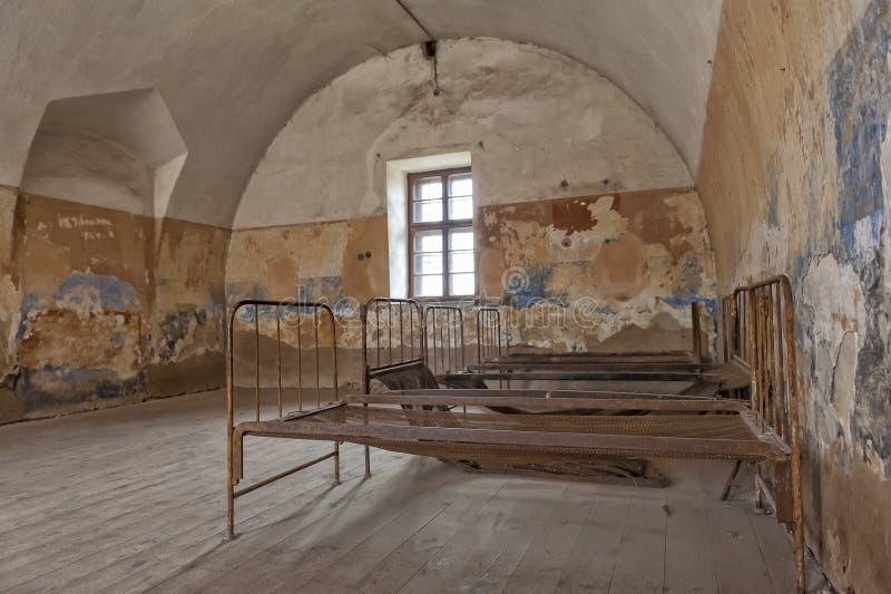Terezin minnes- litet fästningfängelse royaltyfri bild