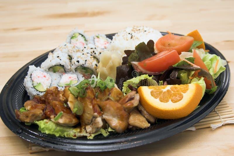 teriyaki плиты цыпленка стоковое фото