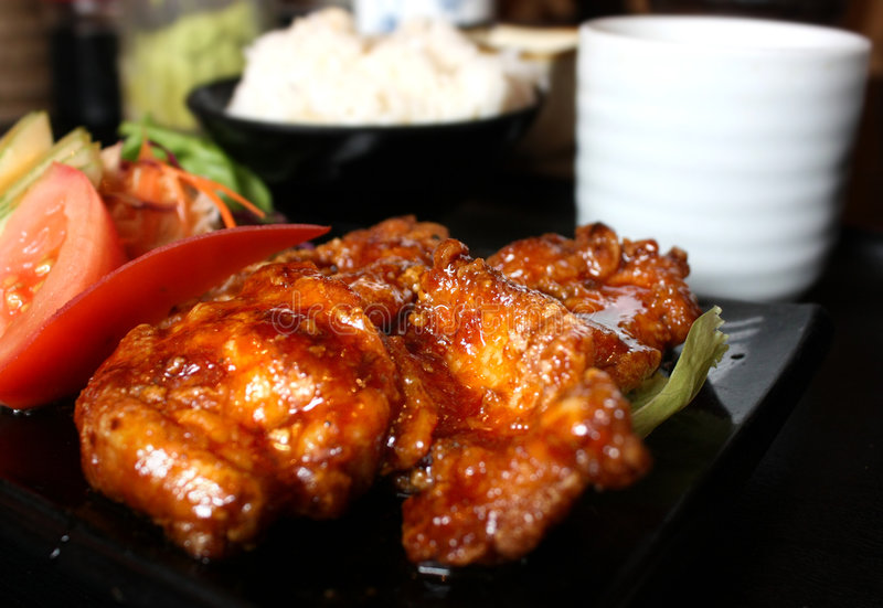 teriyaki японца цыпленка стоковые фотографии rf