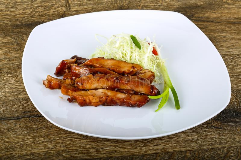 Teriyaki chicken stock photos
