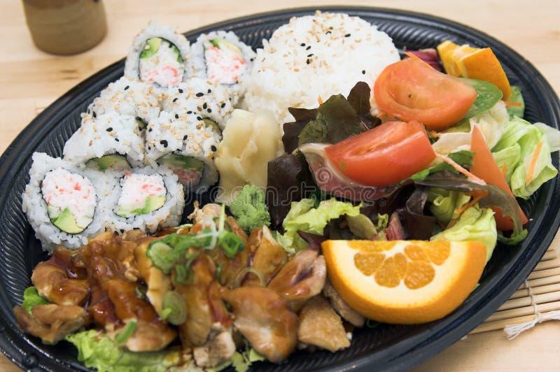 Teriyaki Chicken Plate royalty free stock photos
