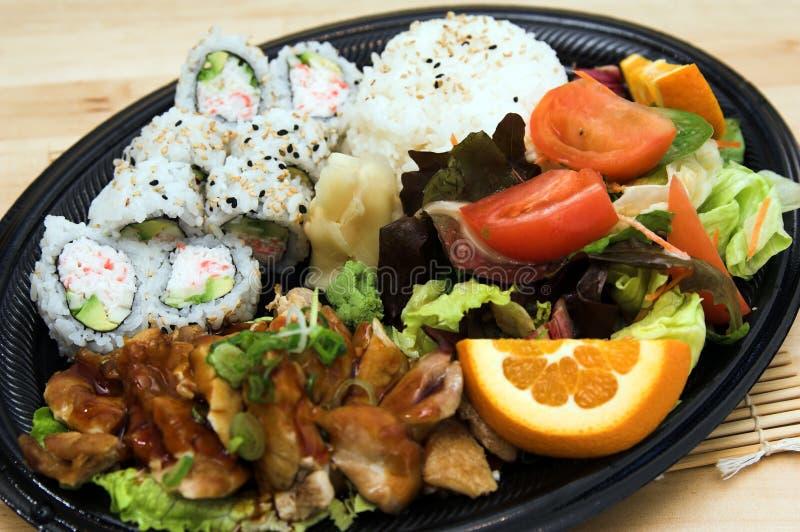 Teriyaki Chicken Plate royalty free stock images