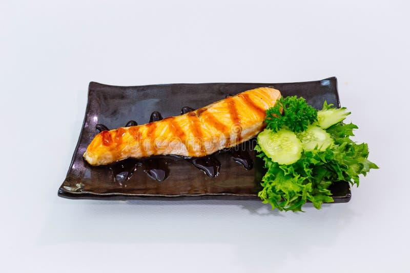 Teriyaki de color salmón foto de archivo