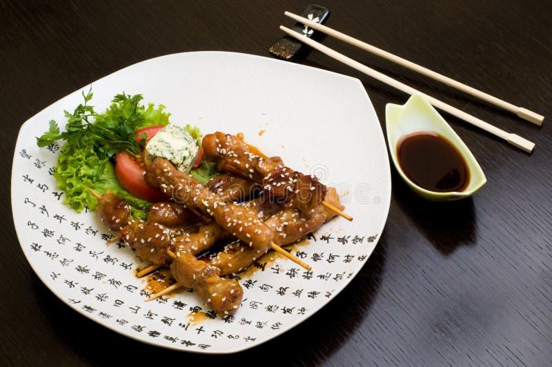 Teriyaki de poulet photographie stock libre de droits