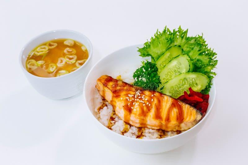Teriyaki Salmon fotos de stock royalty free
