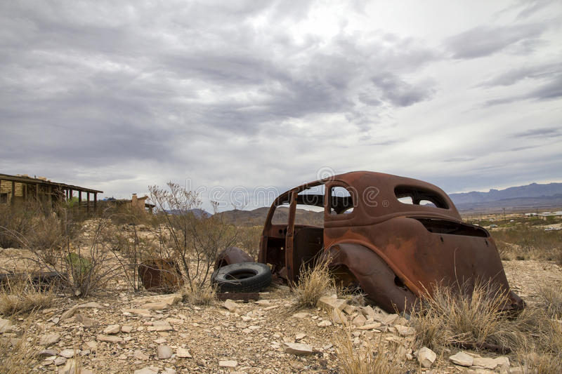 Terlingua Ghost Town - Texas. Near Mexico Boarder royalty free stock images