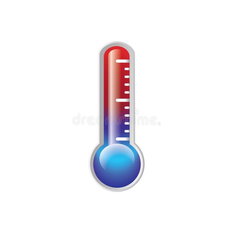 termómetro stock de ilustración