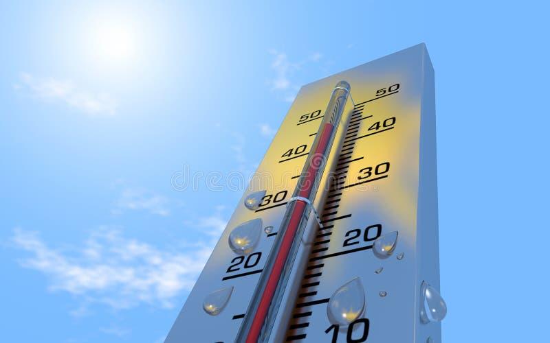 termómetro imagen de archivo libre de regalías