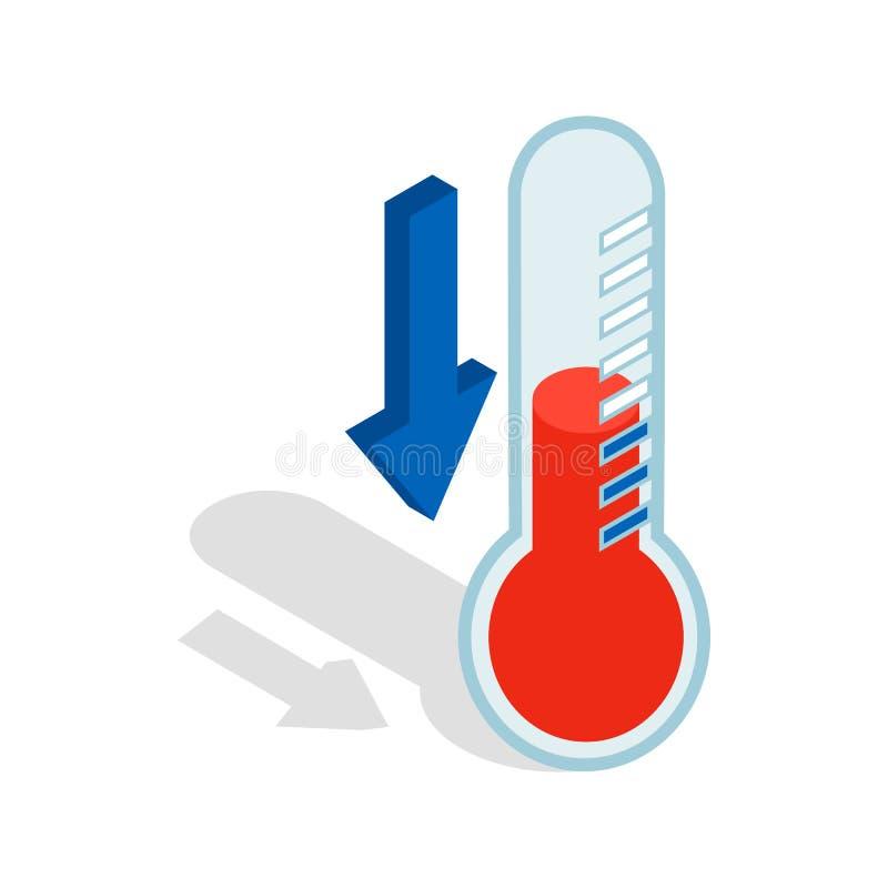 Termómetro con el icono de la baja temperatura libre illustration