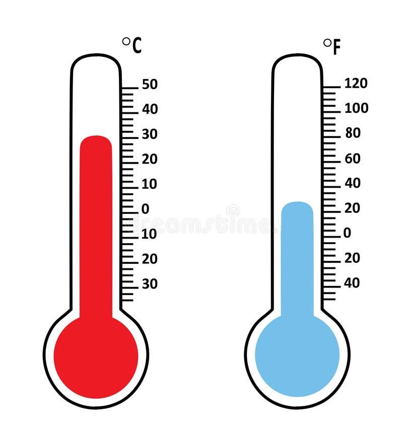 Termómetros de la temperatura del vector ilustración del vector