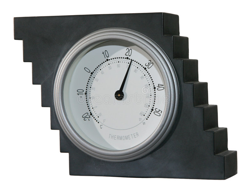 Download Termômetro 1 foto de stock. Imagem de cinzento, interior - 64546