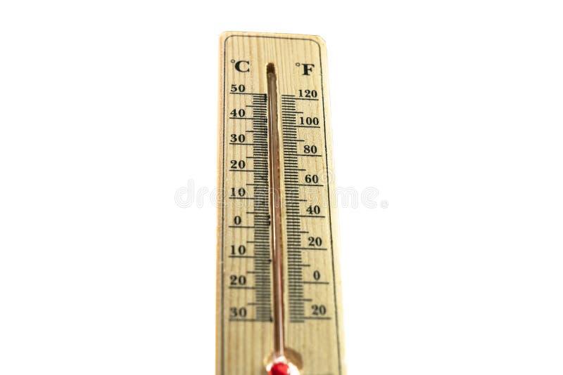 Termômetro no conceito quente mesmo do dia, o de alta temperatura ou o morno do ambiente foto de stock