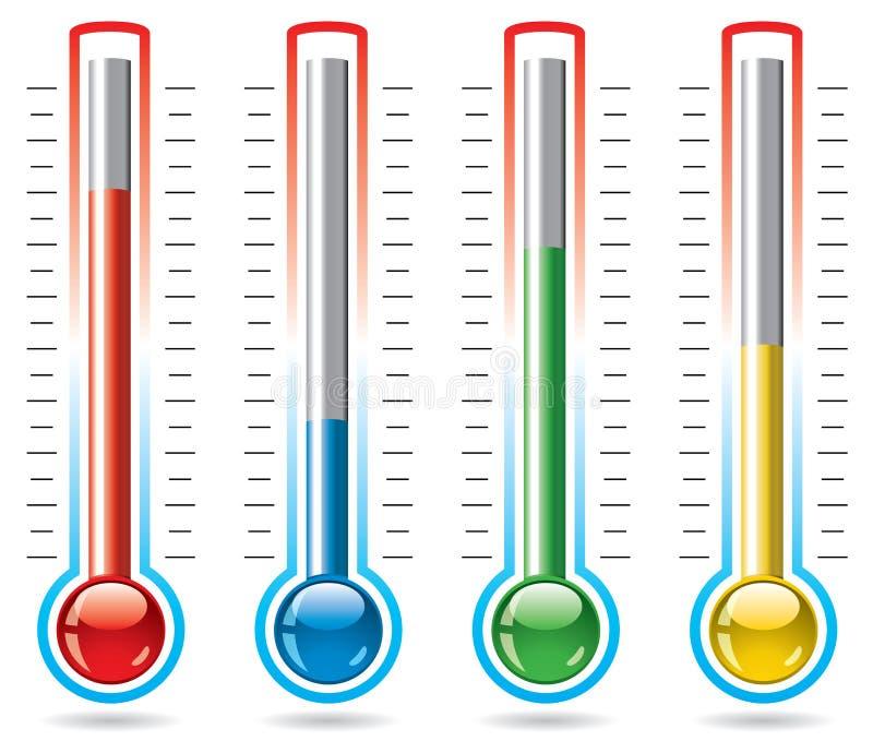 Termômetros ilustração do vetor