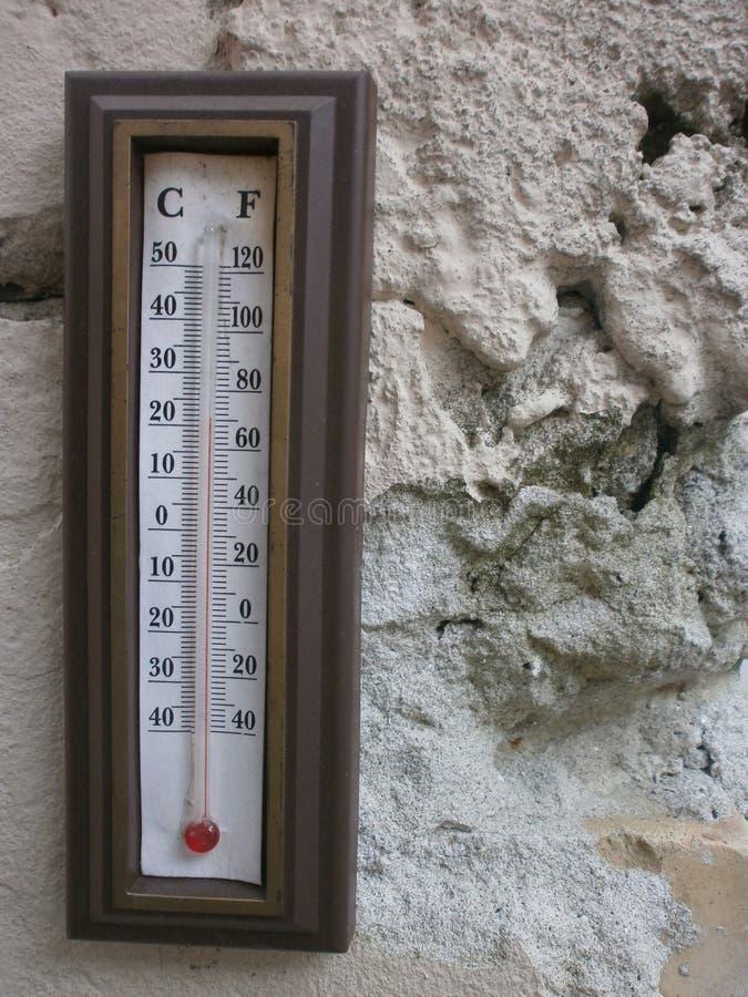 Termômetros da parede fotografia de stock