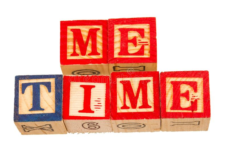 The term me time visually displayed royalty free stock photography