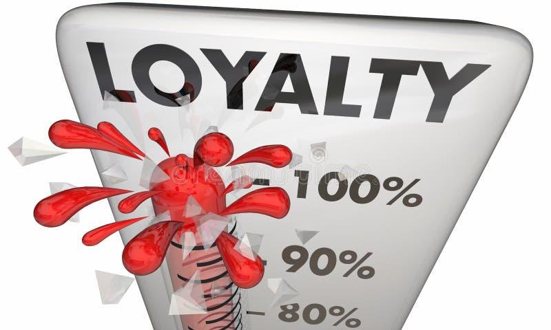 Termômetro da satisfação da retenção de empregado do cliente da lealdade ilustração royalty free