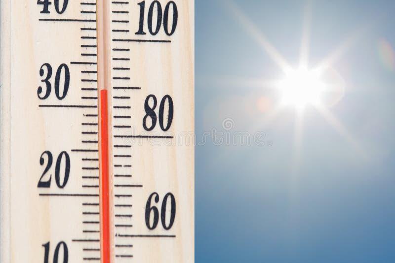 Termômetro da temperatura foto de stock