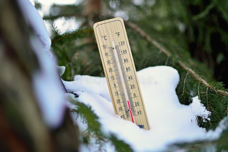 Termômetro de madeira de Mercury fotos de stock royalty free