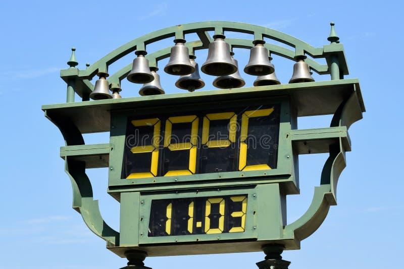 Termômetro exterior foto de stock