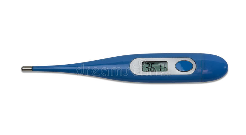 Termômetro médico eletrônico fotografia de stock royalty free